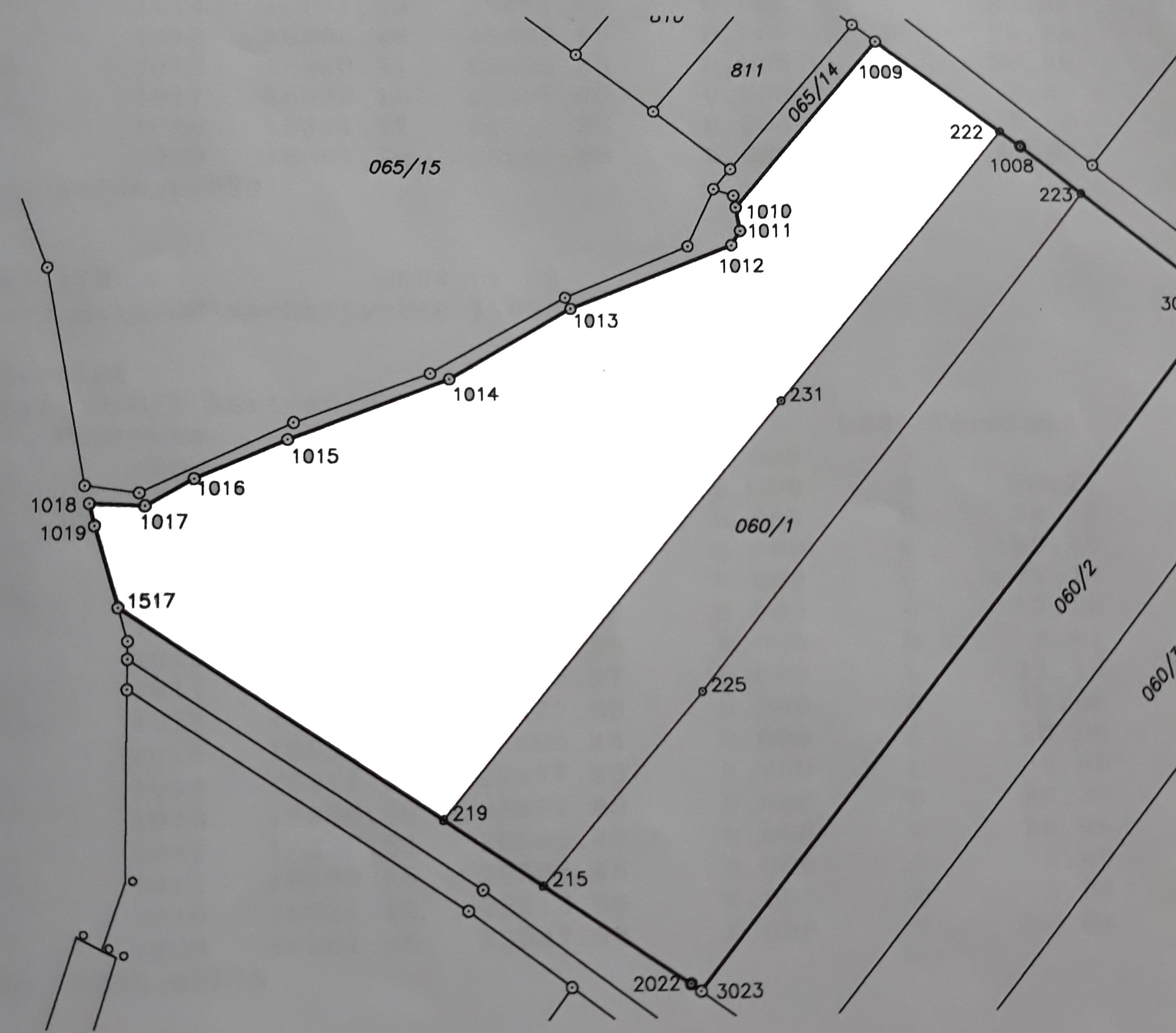 Eladó 1 hektáros telek - Váchartyán alaprajz